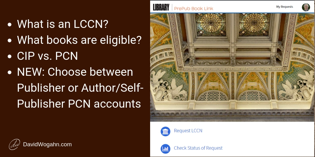 Self-publisher Help with Library of Congress PrePub Book Link & LCCN